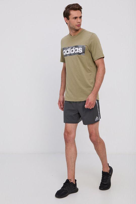 adidas - T-shirt oliwkowy
