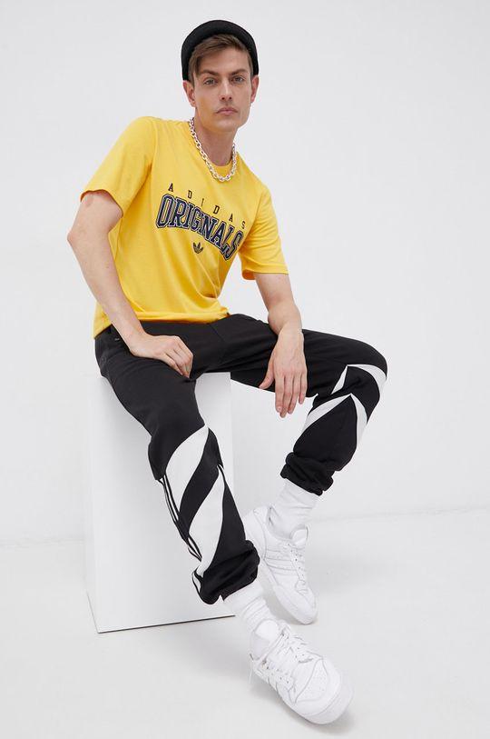 adidas Originals - T-shirt bawełniany żółty