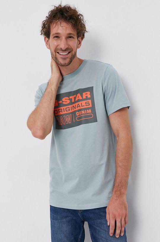 albastru G-Star Raw - Tricou din bumbac De bărbați