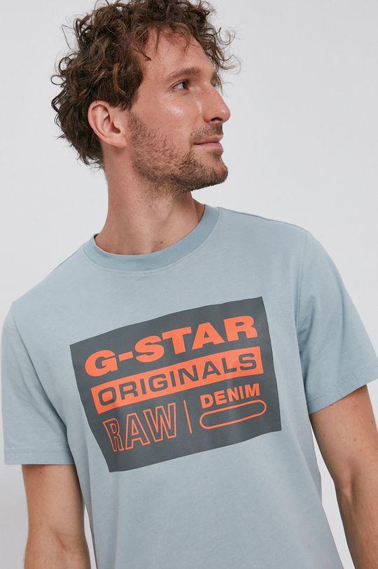 albastru G-Star Raw - Tricou din bumbac