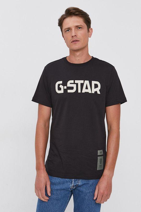 G-Star Raw - T-shirt bawełniany czarny