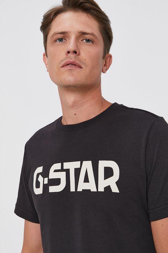 czarny G-Star Raw - T-shirt bawełniany