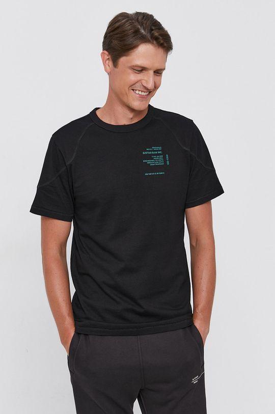 černá G-Star Raw - Bavlněné tričko Pánský