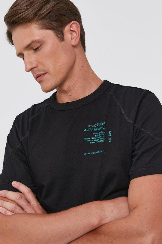černá G-Star Raw - Bavlněné tričko