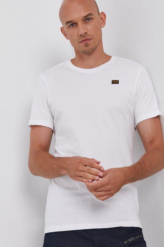 biały G-Star Raw - T-shirt bawełniany (2-pack) Męski