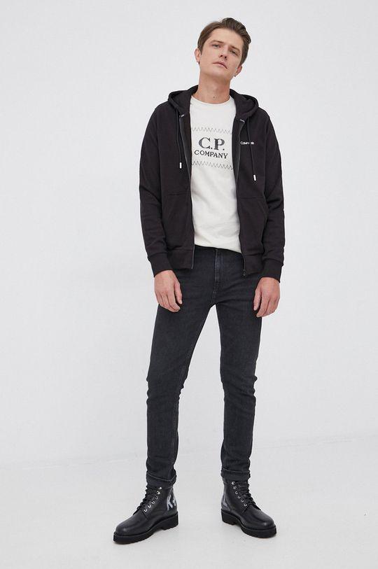 C.P. Company - T-shirt bawełniany piaskowy