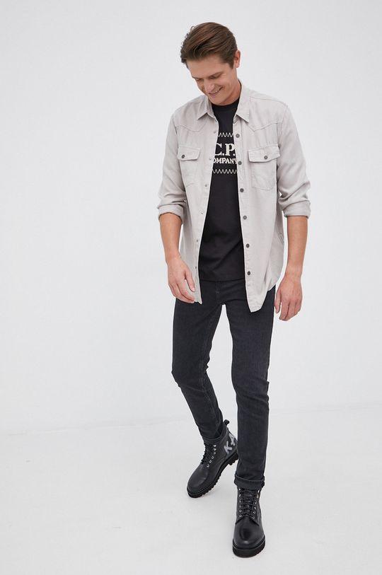C.P. Company - T-shirt bawełniany czarny