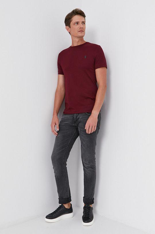 kasztanowy Polo Ralph Lauren - T-shirt bawełniany Męski