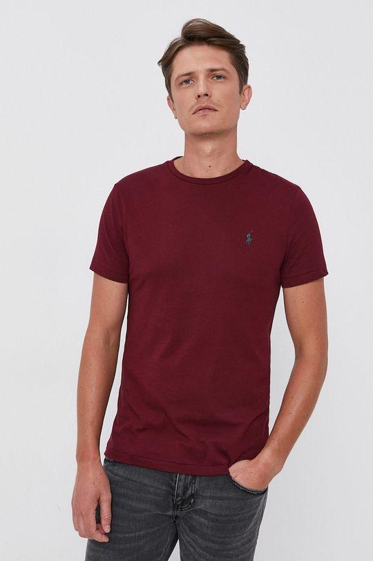 Polo Ralph Lauren - T-shirt bawełniany kasztanowy