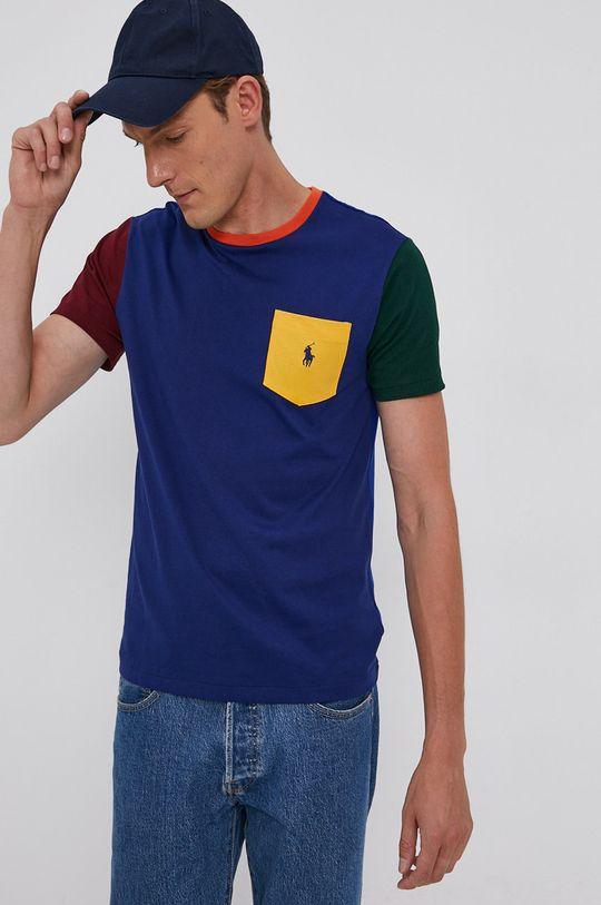 niebieski Polo Ralph Lauren - T-shirt bawełniany Męski