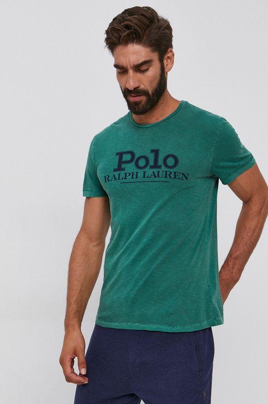ciemny zielony Polo Ralph Lauren - T-shirt bawełniany Męski