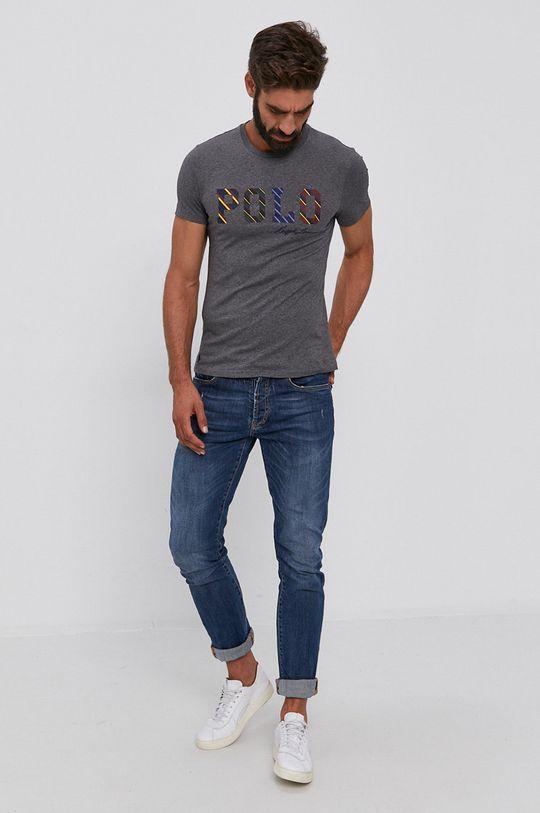 Polo Ralph Lauren - T-shirt bawełniany szary