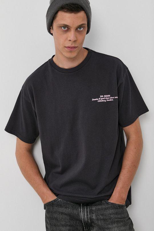 Dr. Denim - T-shirt bawełniany szary