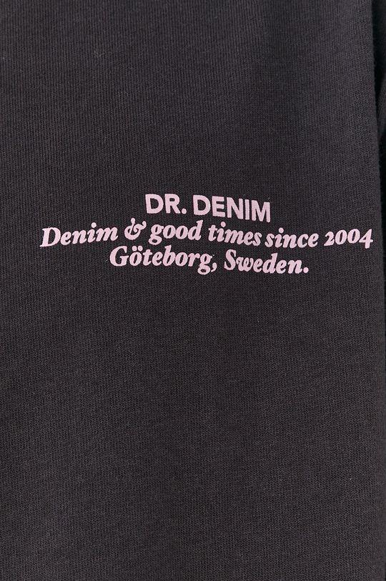 szary Dr. Denim - T-shirt bawełniany