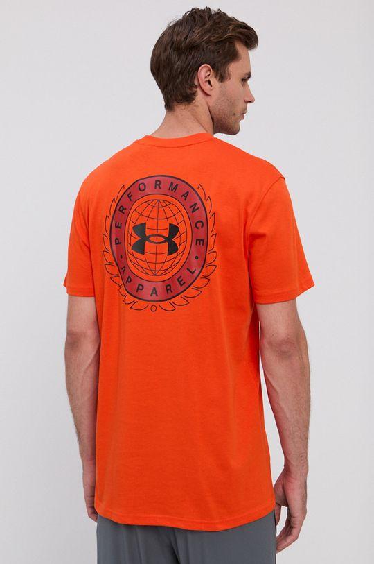 oranžová Under Armour - Tričko Pánsky