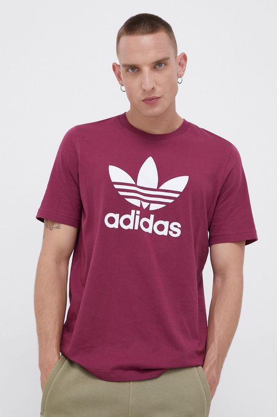 ciemny fioletowy adidas Originals - T-shirt bawełniany Męski
