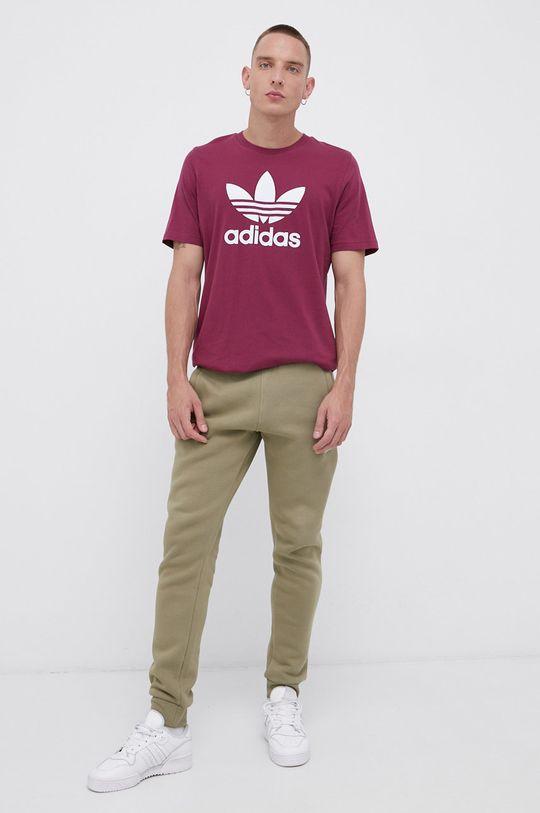 adidas Originals - T-shirt bawełniany ciemny fioletowy