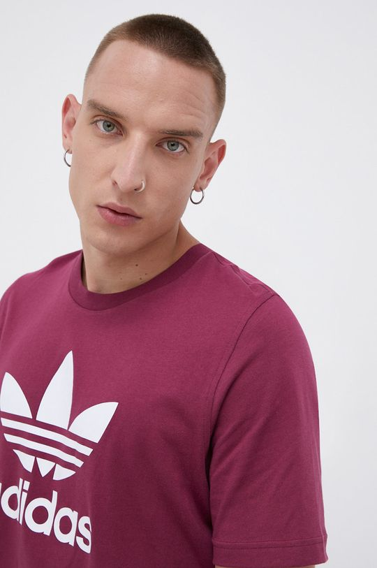 ciemny fioletowy adidas Originals - T-shirt bawełniany