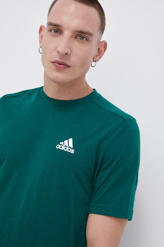 adidas - T-shirt ciemny zielony