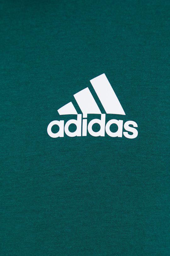 ciemny zielony adidas - T-shirt
