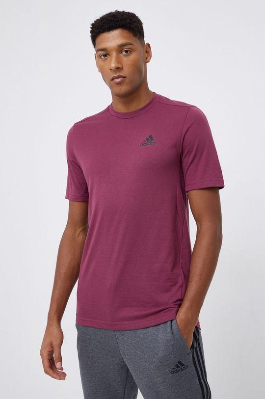 purpurowy adidas Performance - T-shirt Męski