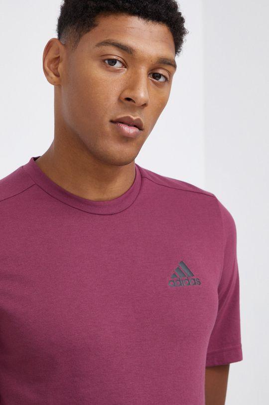 adidas Performance - T-shirt purpurowy
