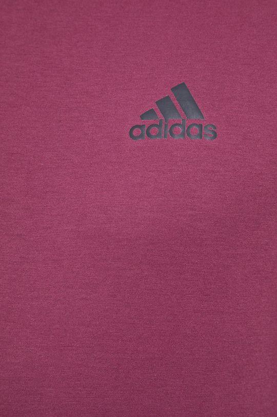 purpurowy adidas Performance - T-shirt