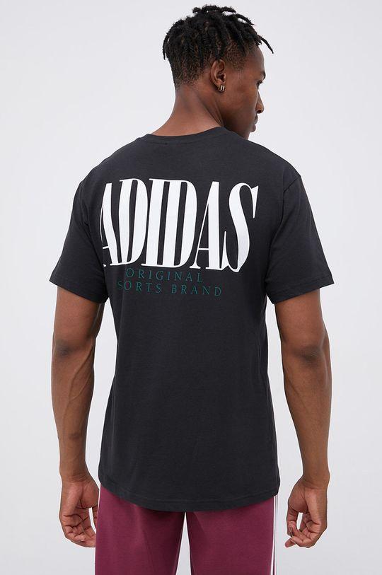 czarny adidas Originals - T-shirt bawełniany Męski