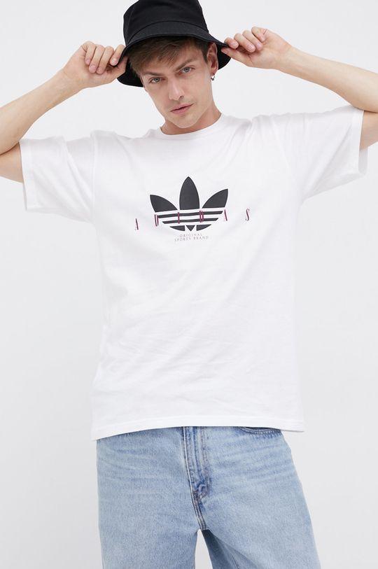 bílá adidas Originals - Bavlněné tričko Pánský