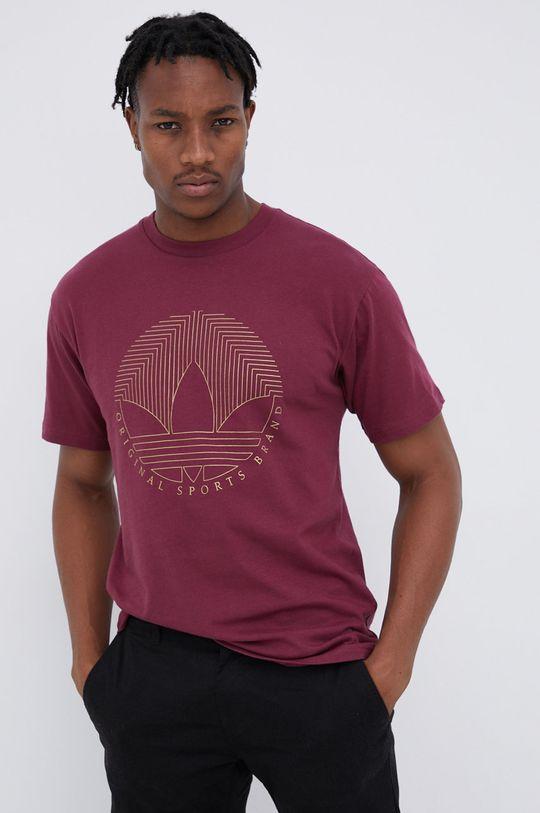 purpurowy adidas Originals - T-shirt bawełniany Męski