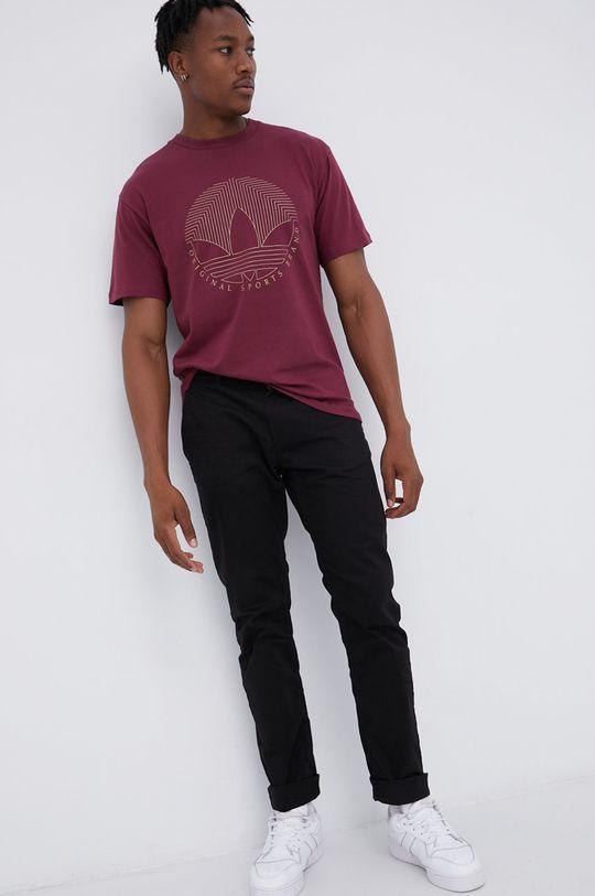 adidas Originals - T-shirt bawełniany purpurowy