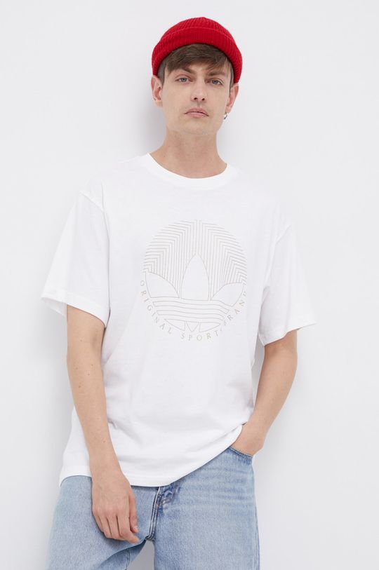 bílá adidas Originals - Bavlněné tričko