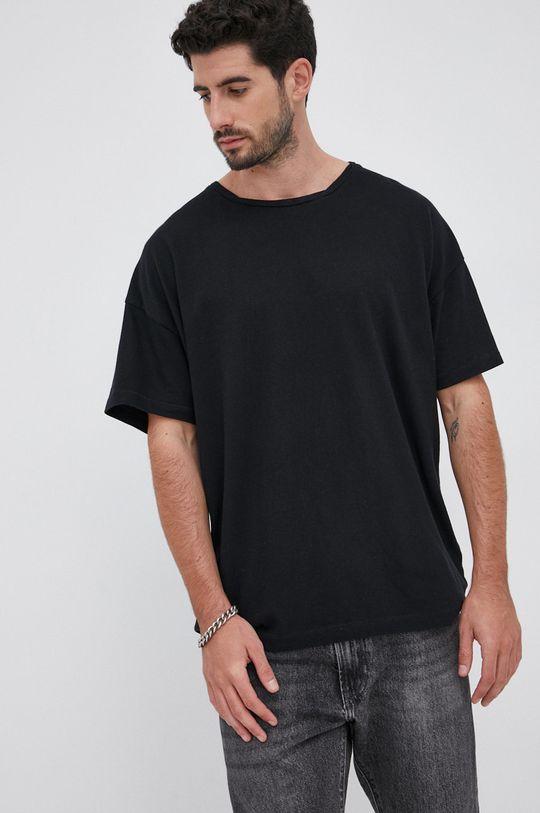 Young Poets Society - T-shirt bawełniany Falcon Arne czarny