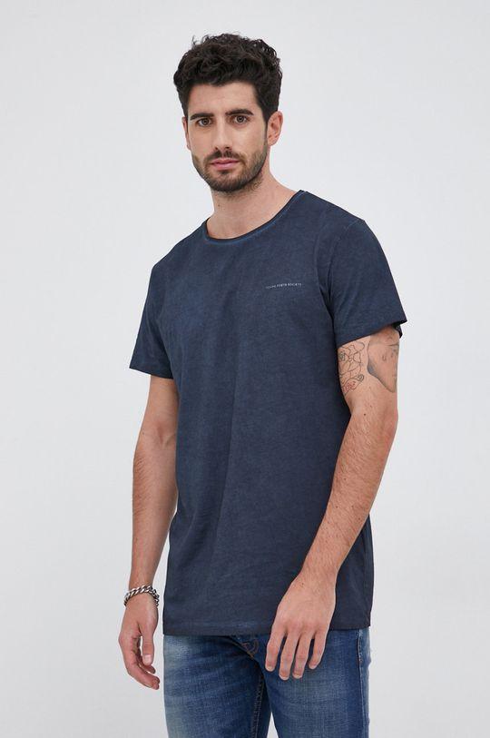 granatowy Young Poets Society - T-shirt bawełniany Hein Vintage Męski