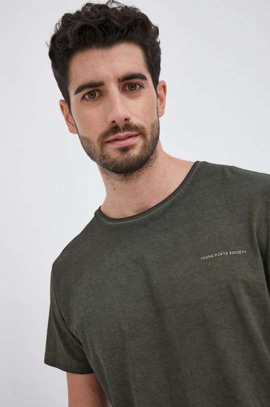 zielony Young Poets Society - T-shirt bawełniany Hein Vintage Męski