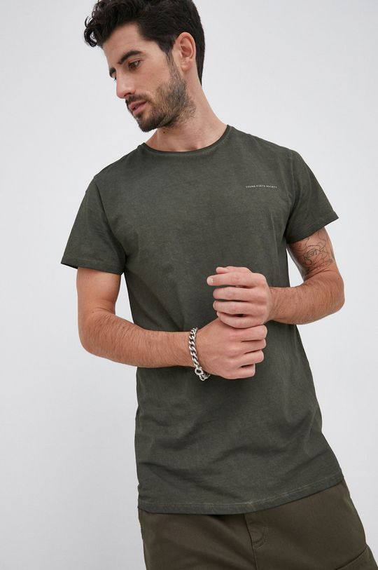 zielony Young Poets Society - T-shirt bawełniany Hein Vintage