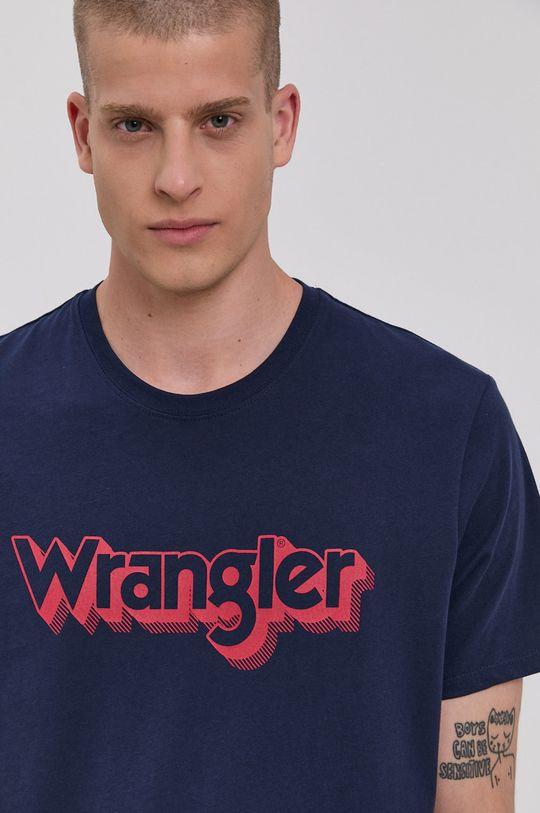 Wrangler - T-shirt bawełniany Męski