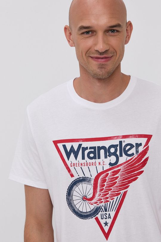 biały Wrangler - T-shirt Męski