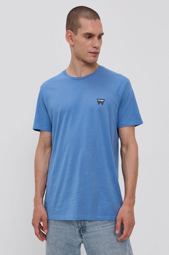 modrá Wrangler - Bavlněné tričko Pánský