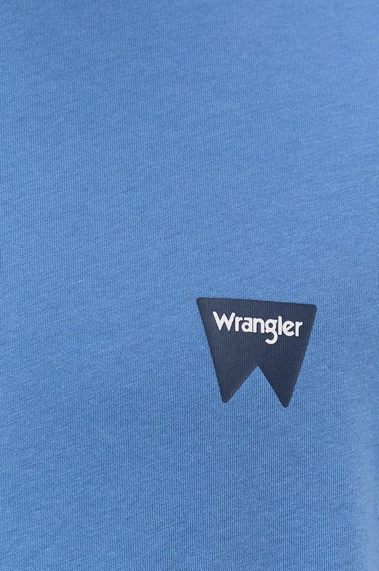 modrá Wrangler - Bavlněné tričko