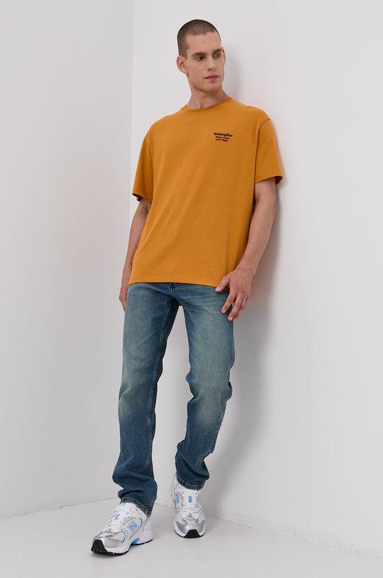 Wrangler - Bavlněné tričko žlutá