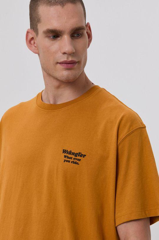 žlutá Wrangler - Bavlněné tričko
