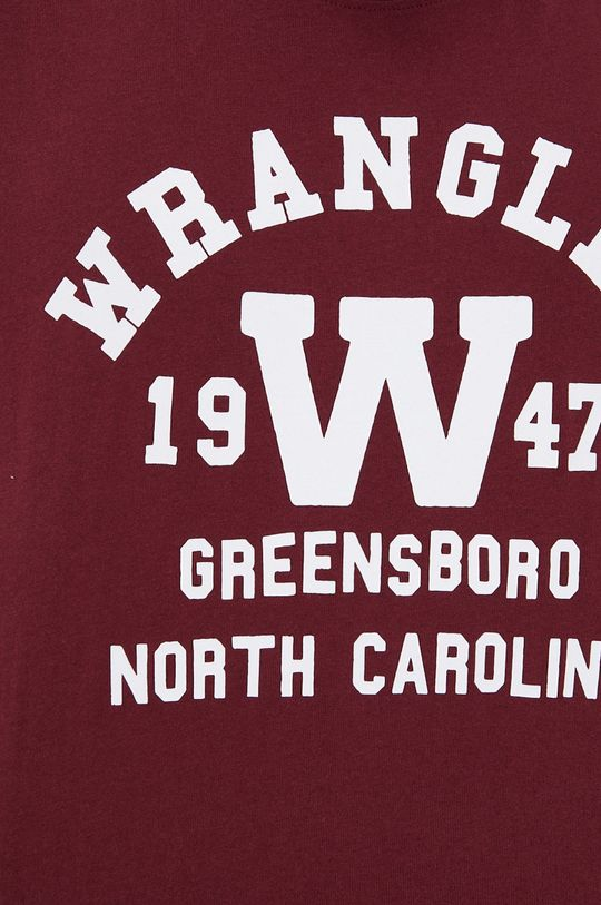kasztanowy Wrangler - T-shirt bawełniany