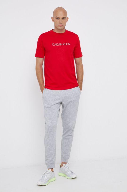 Calvin Klein Performance - Μπλουζάκι κόκκινο