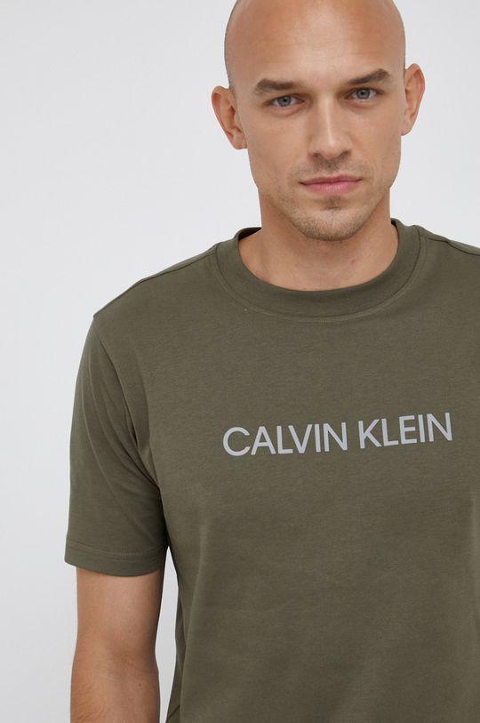 γκρί Calvin Klein Performance - Μπλουζάκι Ανδρικά