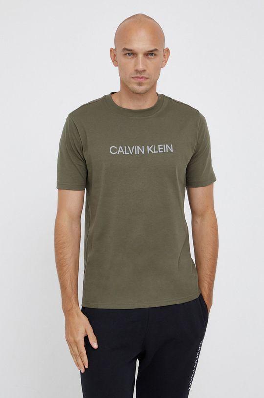 γκρί Calvin Klein Performance - Μπλουζάκι