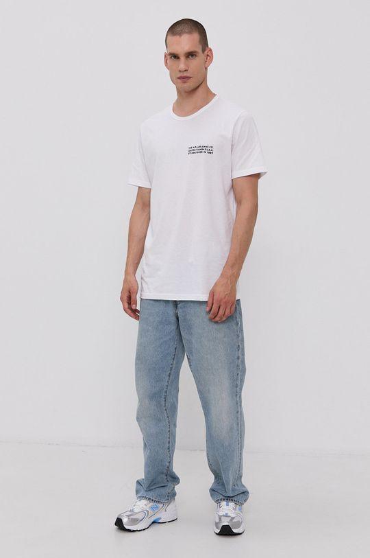 Lee - Bavlnené tričko biela