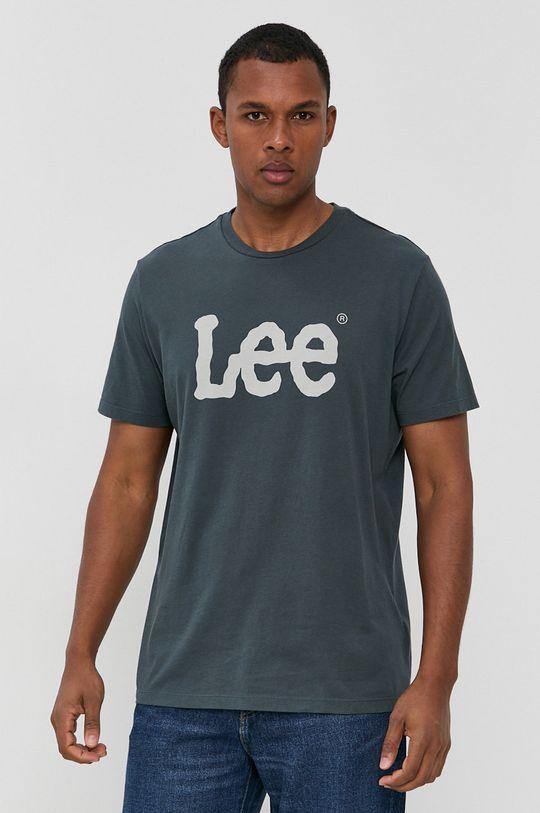 niebieski Lee - T-shirt bawełniany Męski