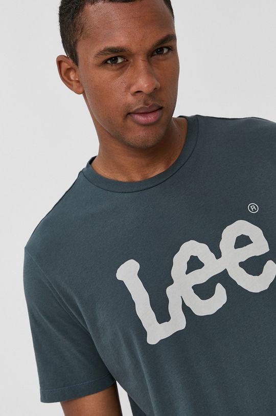 niebieski Lee - T-shirt bawełniany