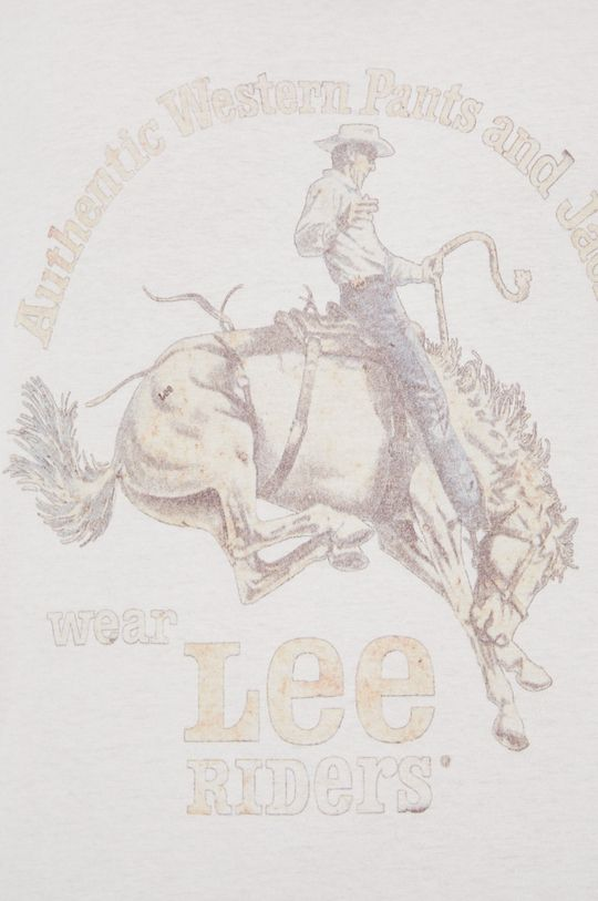 kremowy Lee - T-shirt bawełniany